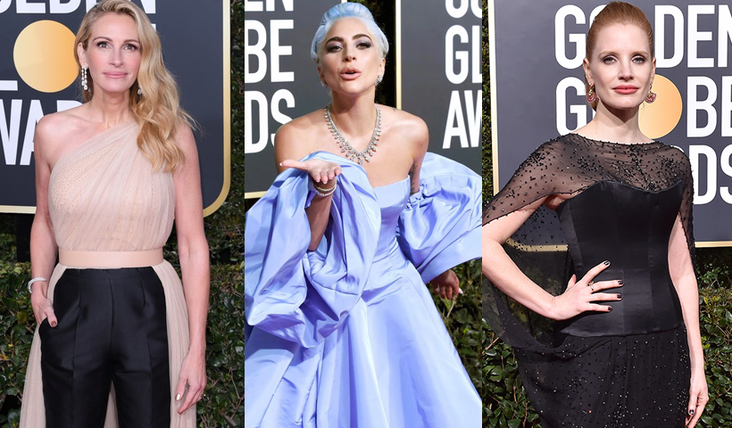 Lady Gaga领衔金球奖红毯 谁戴的珠宝最抢眼?
