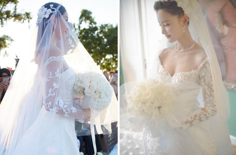 刘诗诗林心如都穿长袖婚纱结婚 你要光膀子?