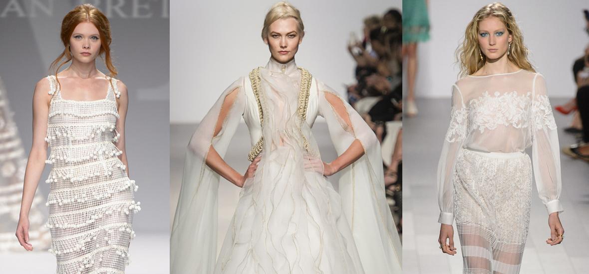 盘点纽约时装周上那些华丽的婚纱礼服