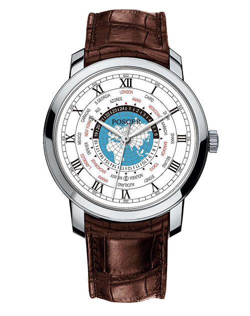 宝时捷表日月星辰系列世界时腕表(经典表盘)