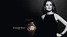 模特阿努克•莱柏精彩演绎爱彼全新女装腕表广告